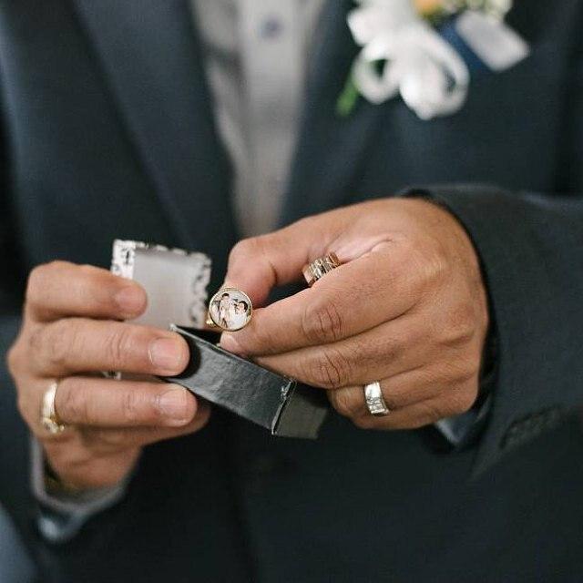 CUFF LINKS Custom Wedding Keepsake Photos andor Text Memorial Cuff Links Groom Cuff Links Customized Personalized Photo Cuff Links Gift