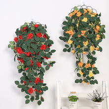 Get more info on the Xuanxiaotong 76cm Silk Roses Ivy Vine with Green Leaves for Home Wedding Decoration Fake leaf Hanging Garland Artificial Flowers