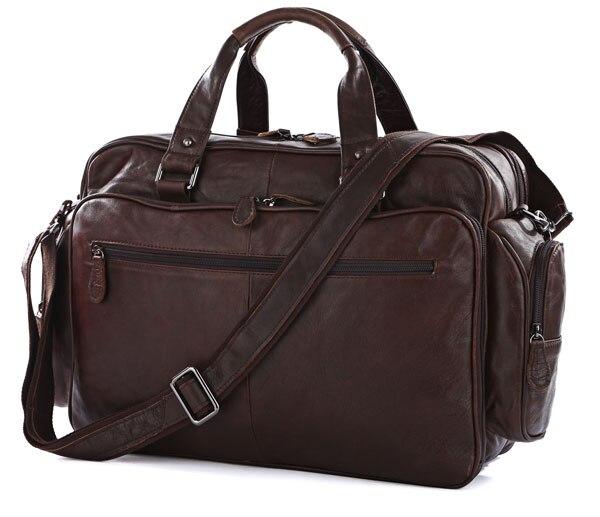 Большой Ёмкость большой Размеры из натуральной кожи Портфели Для мужчин Курьерские сумки из воловьей кожи 15,6 Ноутбук Бизнес дорожная сумк