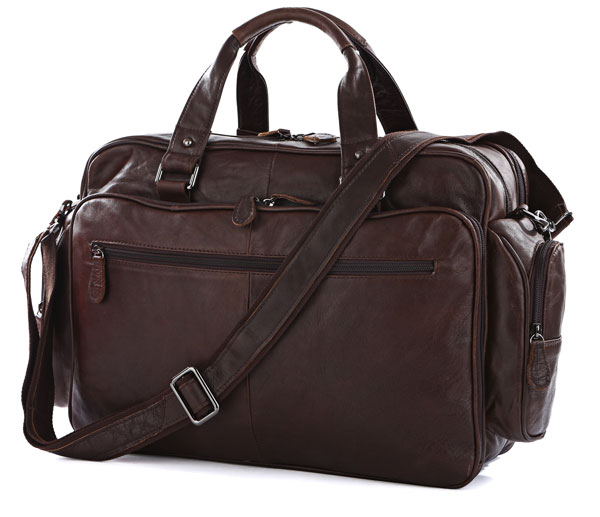 Large Capacity Big Size Genuine Leather Briefcase Men Messenger Bags Cowhide 15.6 Laptop Business Travel Bag #MD J7150