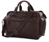 Large Capacity Big Size Genuine Leather Briefcase Men Messenger Bags Cowhide 15.6 Laptop Business Travel Bag #MD J7150