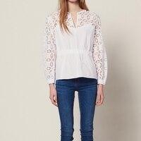 Ladies White Long Sleeve Runway Shirts 2019