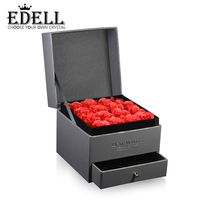 EDELL New High Quality Jewellery Set Box Boutique Jewelry Gift Box Rose Flower Jewelry Noble Gift Box