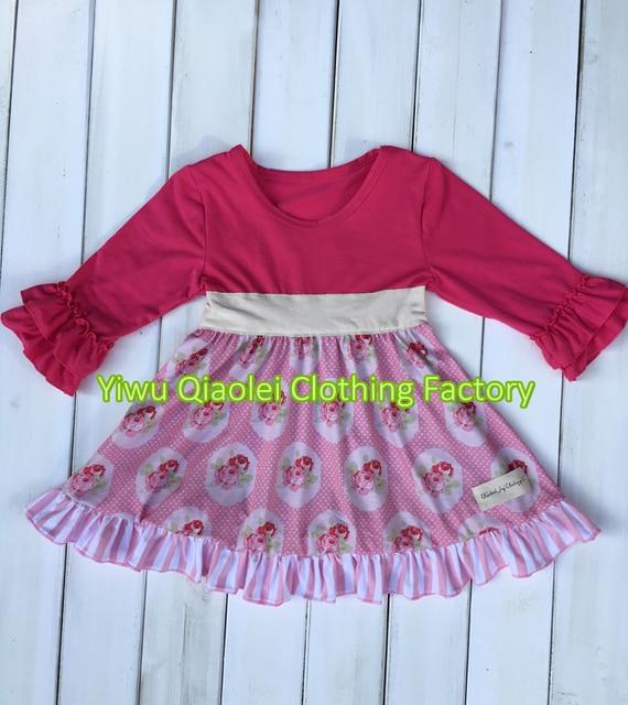 c46f01356 Precio barato al por mayor embroma la ropa del bebé trajes lindo vestido  rosa