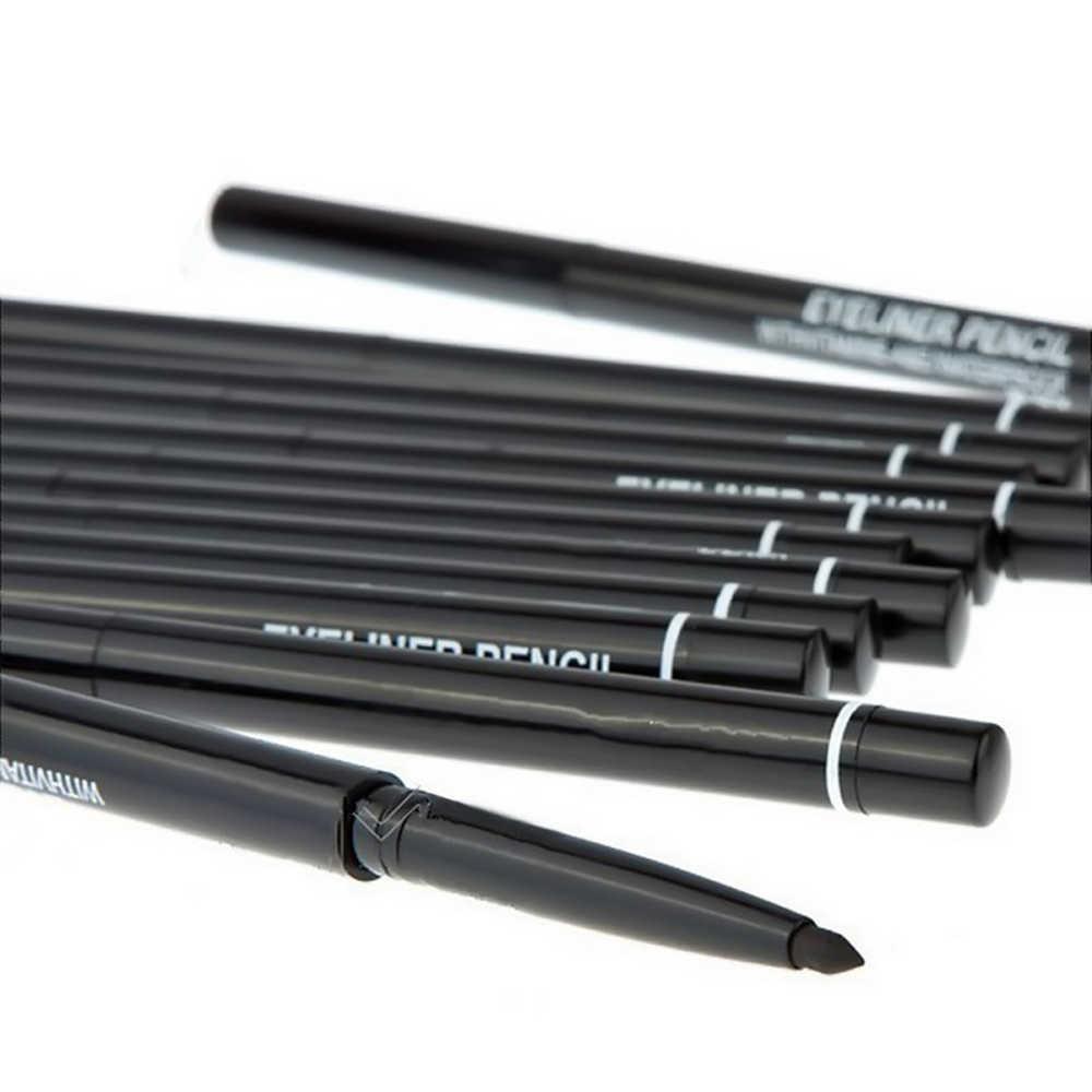 Nova Rotação Automática caneta Delineador À Prova D' Água Naturais Eyeliner Lápis de Sobrancelha com Escova Beleza Cosméticos Ferramenta Dropshipping