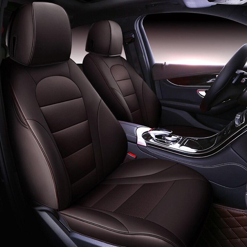 Benutzerdefinierte Rindsleder Auto sitz abdeckung Für 7 sitz Nissan Patrol y61 y62 y60 quest Buick Enclave Dodge Journey JCUV auto zubehör stylin