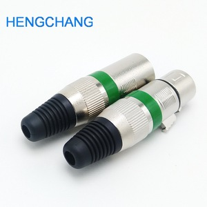 Image 2 - 3 broches XLR femelle + mâle prise 3 pôles XLR prise prise Microphone connecteur couleur verte 10 pièces/lot