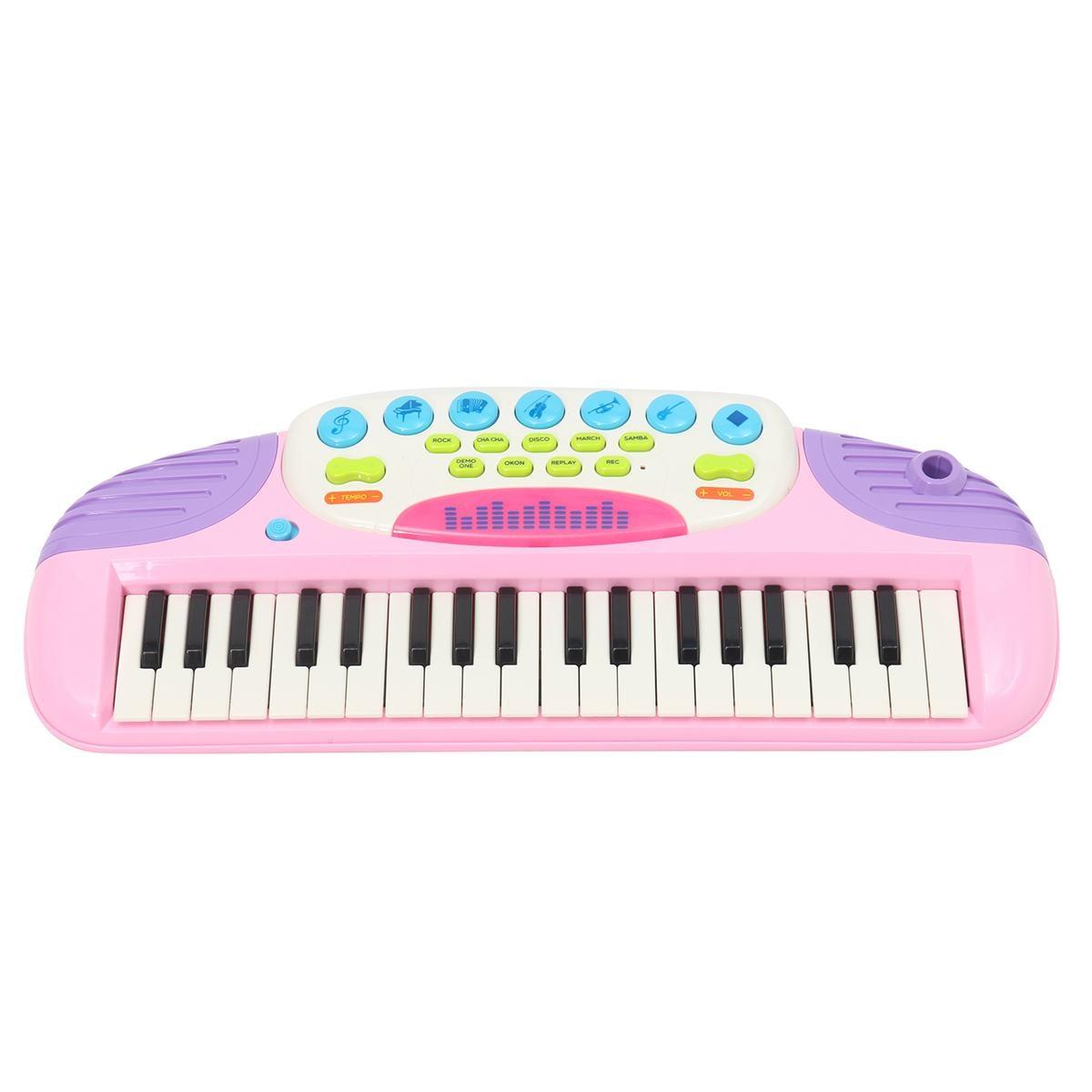 Rose 37 clés enfants clavier électronique Piano orgue jouet Microphone musique jouer enfants jouet éducatif cadeau pour enfants - 3