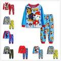 2016 algodão de manga longa bebê meninos define crianças conjuntos de pijama pijama de alta qualidade menino das crianças pijamas crianças ternos roupas 2-7a