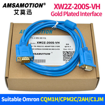 XW2Z-200S-VH Adapter seriali kabel odpowiedni Omron CQM1H CPM2C 2AH seria kabel do programowania plc tanie i dobre opinie AMSAMOTION Miedzi Stranded Izolowane