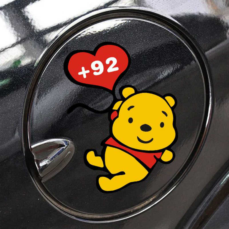 Volkrays voiture autocollant accessoires dessin animé bouchon de carburant décalque décoration pour moto Golf Audi Mazda Nissan Samrt Mini