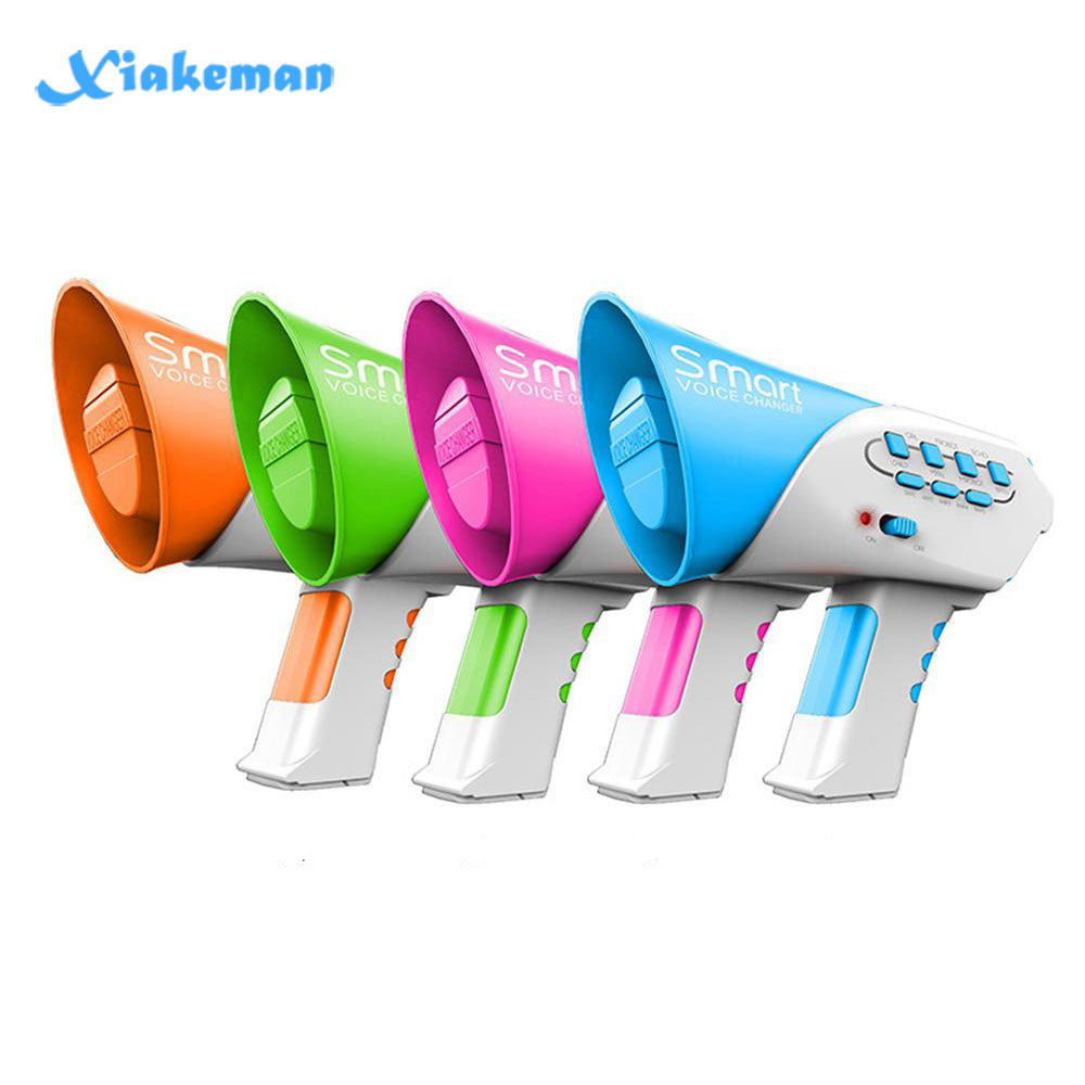 Mini Horn Funny Kids Toys 7 Different Voices Smart Voice Changer Loudspeaker Children Education Sounding Toy Voice Changing Horn
