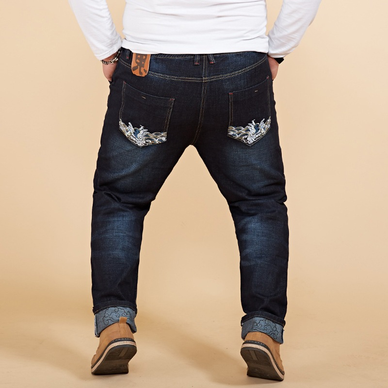 جديد وصول مرونة الخصر الدنيم السراويل - ملابس رجالية