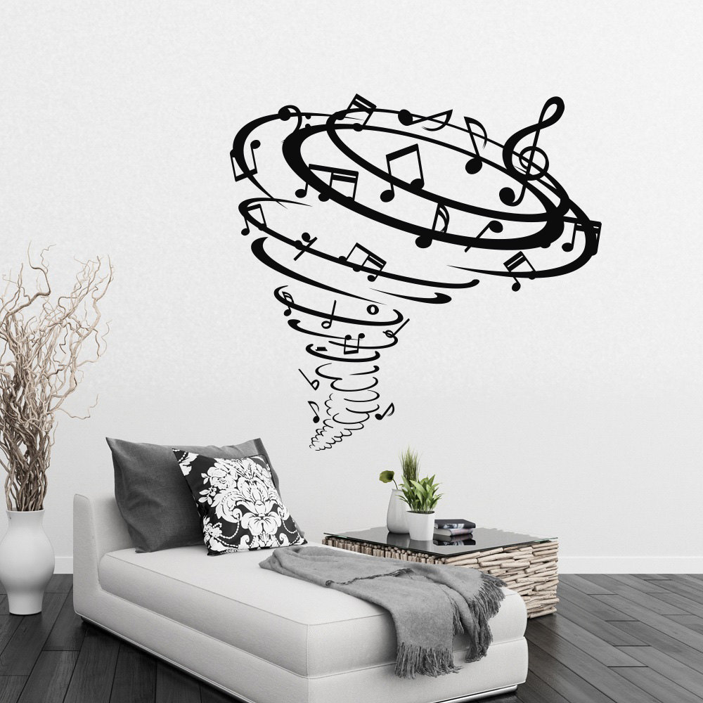 Group Of Music Notes Wall Stickers Unique Desiged Home Musical Style  Fashion Decor Vinyl Wall Murals Decal Music Notes Wm 228