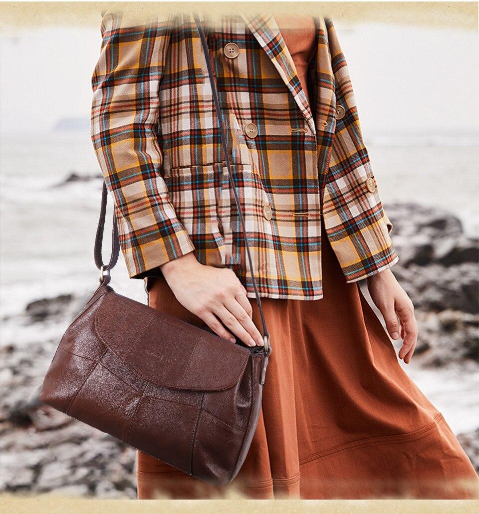 bolsas حقائب الكتف النسائية جلد طبيعي العلامة التجارية 2