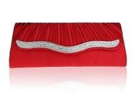 2016 New Design Red Banquet Handbag Clutch Party Bridal Evening Bag Hot Sale Women With Shoulder