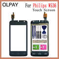 OLPAY 4.0'' 100% New Mobile TouchScreen For Philips W536 Touch Screen Front Glass Digitizer Free Adhesive And Wipes