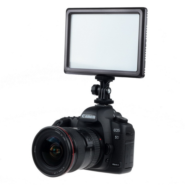 ФОТО fotga Super Slim 112-LED Video HotShoe Light Pad for A7 A7RS A7II 5DII D7000 D7300 D5300 D3100 D5100 D3200 650D 5DIII D800