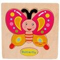 Мода Деревянный Бабочка Головоломки Обучающие Развивающие Baby Дети Обучение Игрушки Бесплатная Доставка