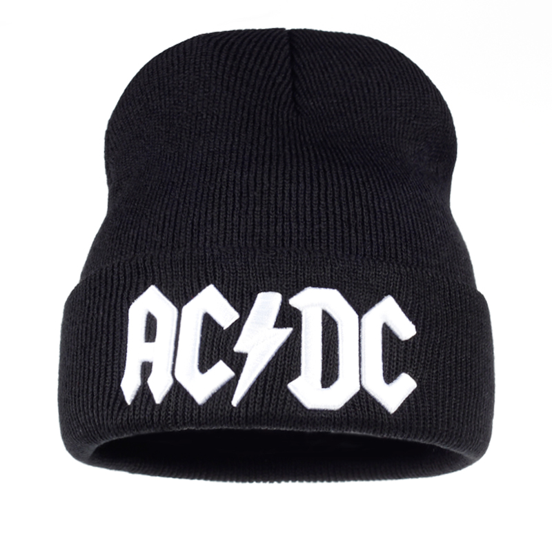 TUNICA Men Women Winter Warm Beanie Hat Rock ACDC AC/DC Rock Band Warm Winter Soft Knitted Beanies Hat Cap For Adult Men Women