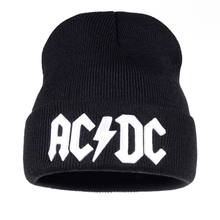 TUNICA Men Women Winter Warm Beanie Hat Rock ACDC AC/DC Band Soft Knitted Beanies Cap For Adult