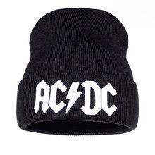4c24675bc1564 TUNICA Men Women Winter Warm Beanie Hat Rock ACDC AC DC Rock Band Warm  Winter Soft Knitted Beanies Hat Cap For Adult Men Women