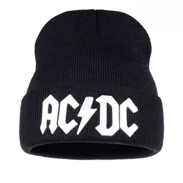 9f87c25ee2187 TUNICA Men Women Winter Warm Beanie Hat Rock ACDC AC DC Rock Band Warm  Winter Soft Knitted Beanies Hat Cap For Adult Men Women