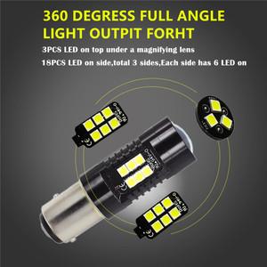 Image 3 - 2Pcs 1156 BA15S P21W LED BAU15S PY21W BAY15D LED Bulb 1157 P21/5W R5W 21pcs 3030SMD Auto Lamp Bulbs Car LED Light 12V   24V