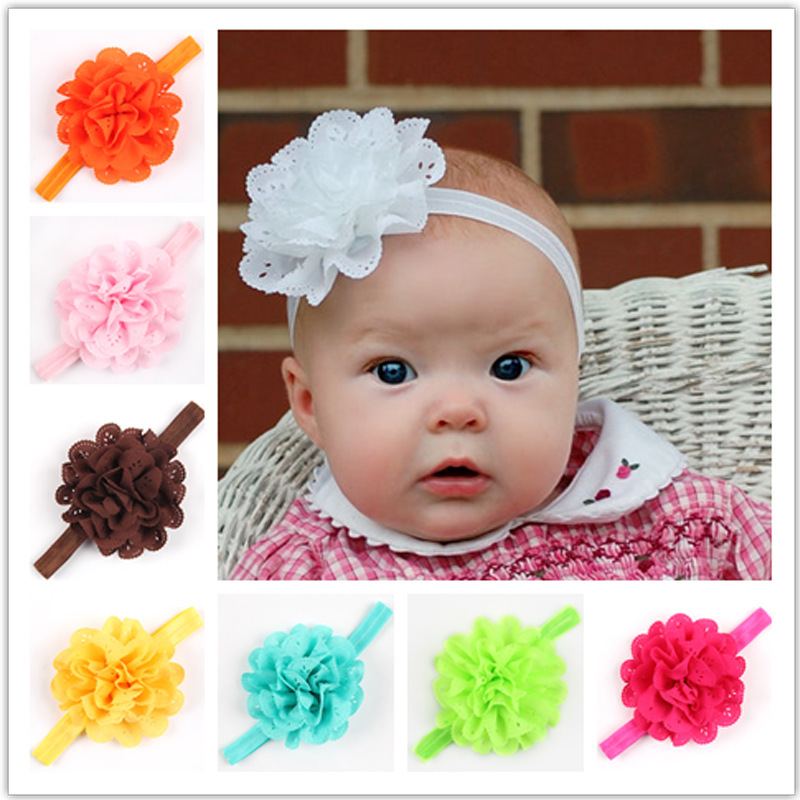 12pcs lot Girl s Head Accessories hairband Baby Headband flower princess  headband elastic flower hairband free shipping 3c6861c25e89