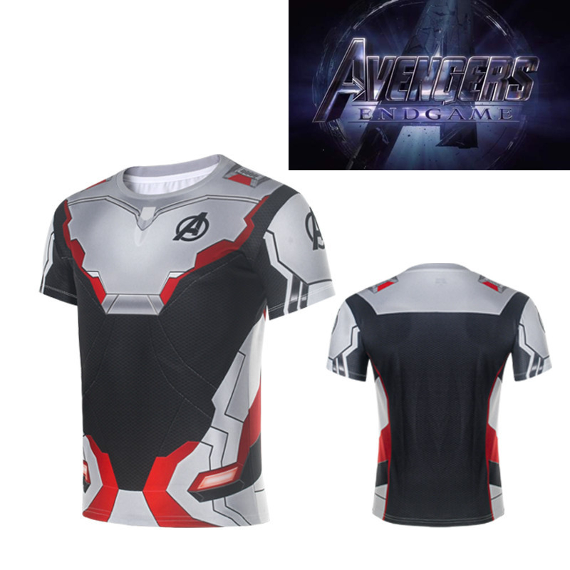 New Avengers Endgame Cosplay Costumes T-shirt Tee Superhero Quantum Costume Women Men Sweatshirt Top Sportswear Fitness Wear
