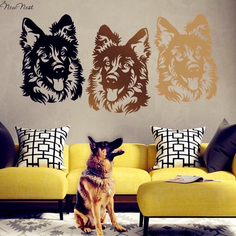 German Shepherd Dog Wall Decal Vinyl Sticker Home Decor