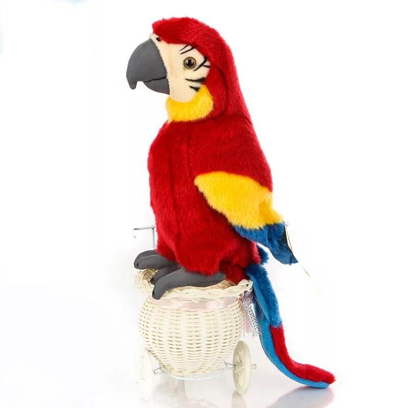 25 cm réaliste écarlate Macaw réaliste rouge perroquet jouets en peluche animaux aras oiseau en peluche cadeaux d'anniversaire pour les enfants