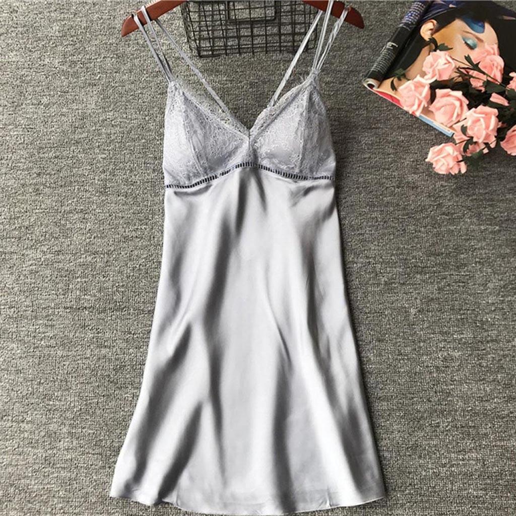 FeiTong Women Sexy Lace Lingerie Nightwear Camis Babydoll Sleepwear Dress Feminina   Nightgowns     Sleepshirts   Women's Sleep