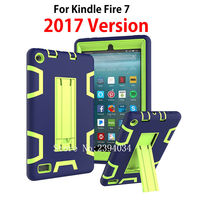 For Amazon New Kindle Fire 7 Case 2017 Version 7 Kids Safe Armor Shockproof Heavy Duty