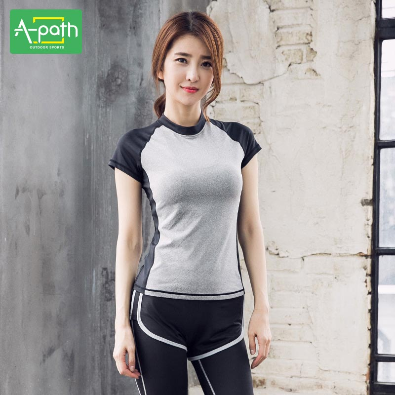 Four Sets of Summer Female Outdoor Yoga Running Set Sports Clothing Suit Women Gym Clothes for Fitness Jogging Femme 2018 new winter yoga suit five piece female ms breathable coat of cultivate one s morality pants sports suits running fitness