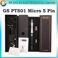 2016 melhor e cigarro kit ego bateria passthrough 5pin Micro GS PTS01 Micro 5 Pinos da bateria ego cigarro eletronico Acionador de Partida Kit