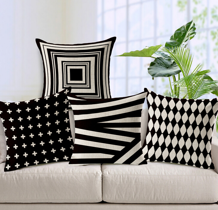 Luxury Cushioncover Pillow Pillowcase Bed Car Hotel Printed White Geometric Home Decor Sofa Vintage Modern Cushion In From Garden On