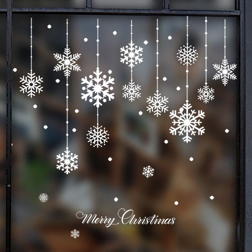 Christmas window stickers vinyl diy star snow angel wall decals for family mutfak duvar room shop christmas decorations for home in wall stickers from home