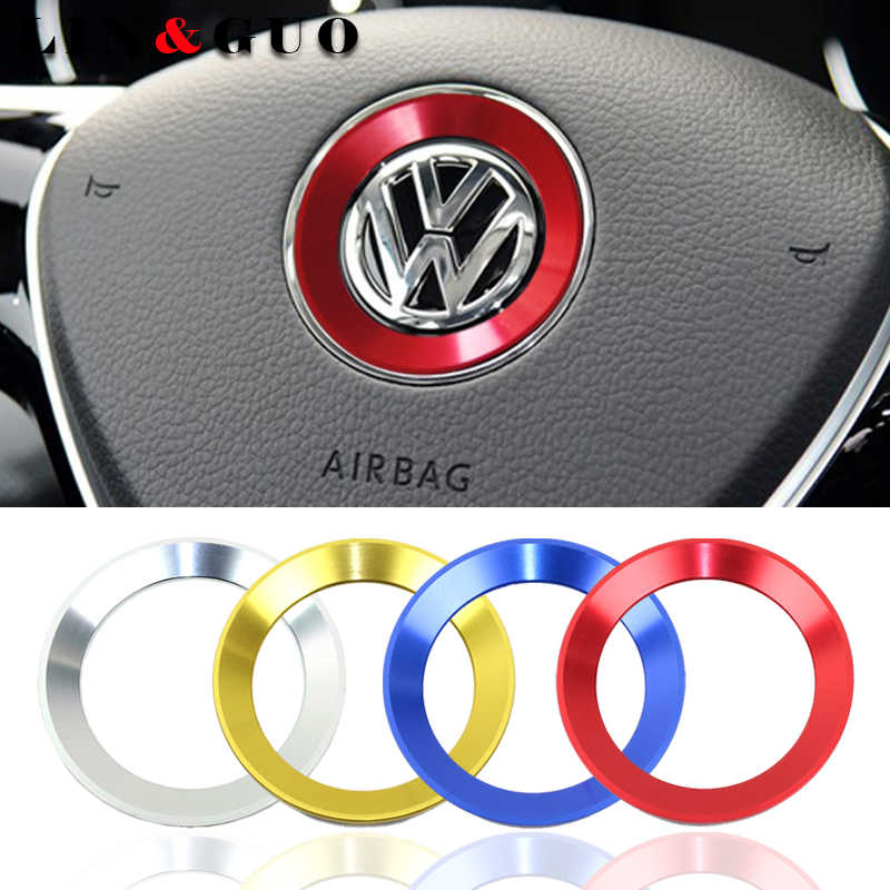 car styling steering wheel emblem fit for 2011-2016 VW Volkswagen golf 6 golf 7 POLO CC Tiguan PASSAT TOURAN Scirocco BEETLE