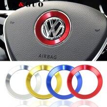 자동차 스타일링 스티어링 휠 엠블렘 2011 2016 VW 폭스 바겐 골프 6 골프 7 폴로 CC Tiguan PASSAT TOURAN Scirocco BEETLE