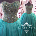 Gorgeeous Turquoise Quinceanera Dresses Sweet 16 Birthday Sweetheart Long Puffy Ball Gown 2017 Party Prom Gown Vestido 15 Anos