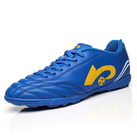 Best Selling Indoor Soccer Man Black Blue Turf Football Shoes Boys Outdoor Training Soccer Cleats Big
