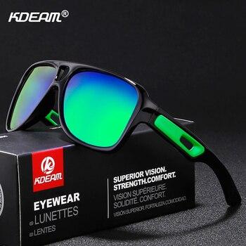 28e3c8cc28 Gafas de sol polarizadas en forma de KDEAM polarizadas para hombre gafas de sol  para deportes de la vida polarización de mujeres zonnebril con caja