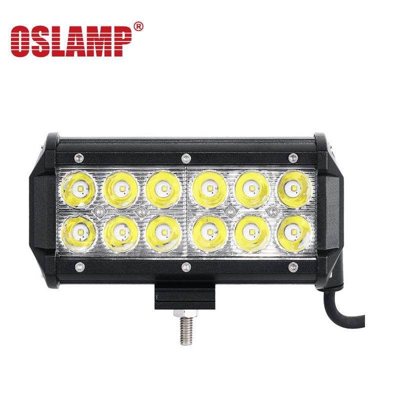 Oslamp 36W Flood Spot Beam LED Work Light Bar Offroad 7 12V 24V 4x4 4WD Truck LED Fog Lamp Motorcycle Boat Van Tractor Lamp RZR