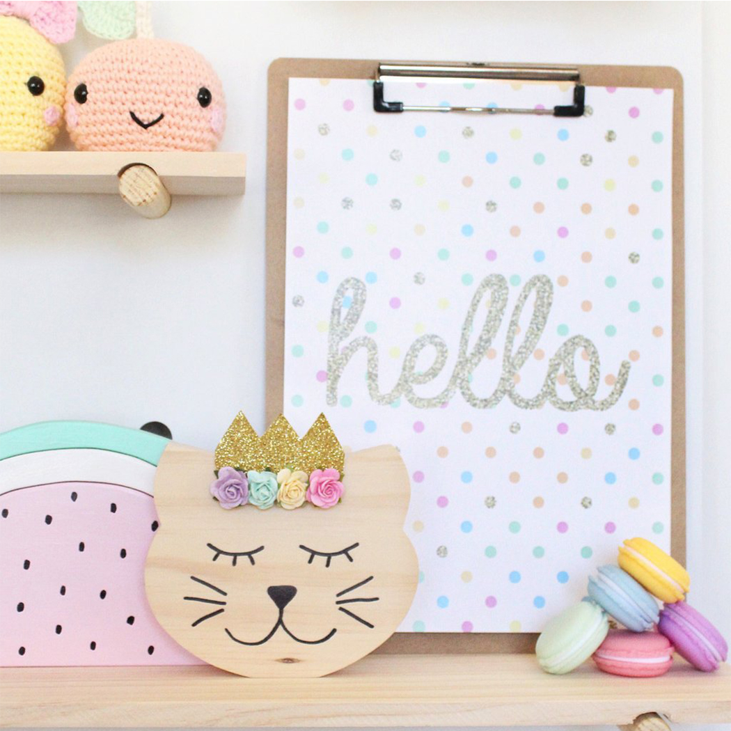 Cartoon Animal Style Wooden Craft Furnishing for Photography Wall Decor Ornament Kids Room Decor