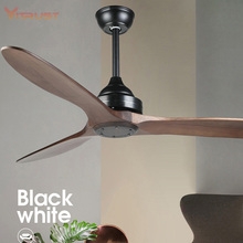 Ceiling Fan with Remote Solid Wood Oil Rubbed Bronze for Kitchen Patio