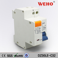 DZ30LE C32 32A RCBO 1P Residual Current Operated 1 Poles Mini Circuit Breaker