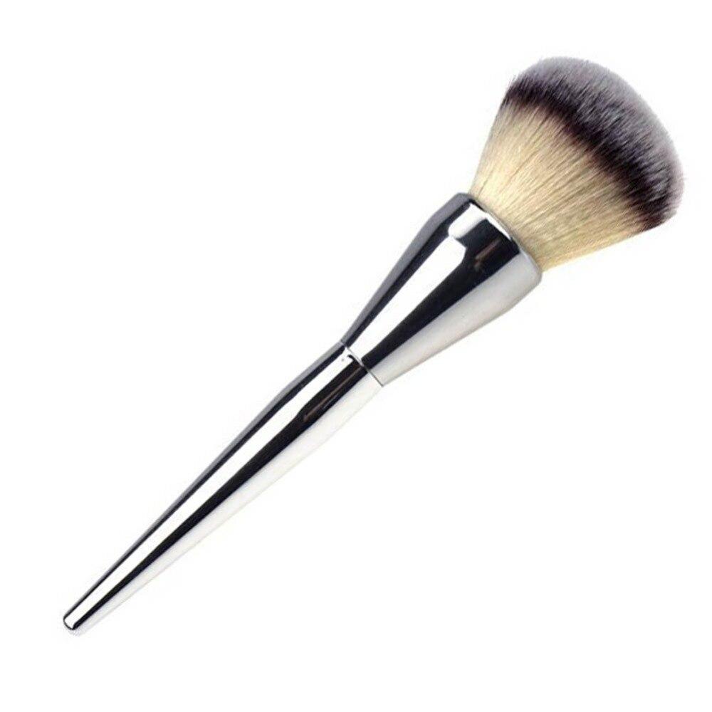 1pc Silver Powder Blush Brush Professional Make Up Brush Large Cosmetics Makeup Brushes