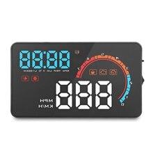 Portátil Carro OBD HUD Head Up Display Digital Inteligente Pára Velocidade Projetor Alarme de Dados De Consumo De Combustível de Diagnóstico Auto on/ off