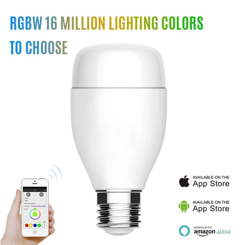 WiFi couleur intelligente RGB lampe réglable E27 ampoule colorée intelligente maison effet spécial multicolore lumière commande vocale